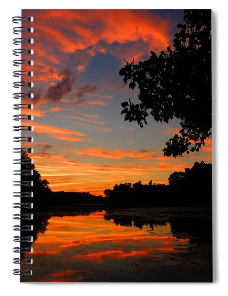 Marlu Lake At Sunset Spiral Notebook