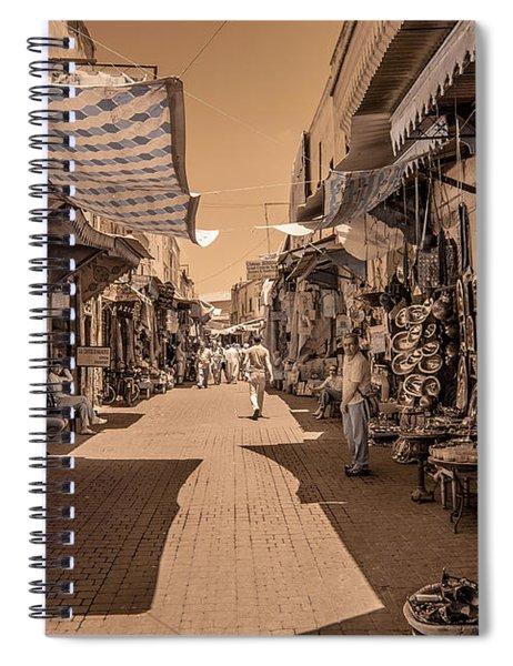 Marrackech Souk At Noon Spiral Notebook