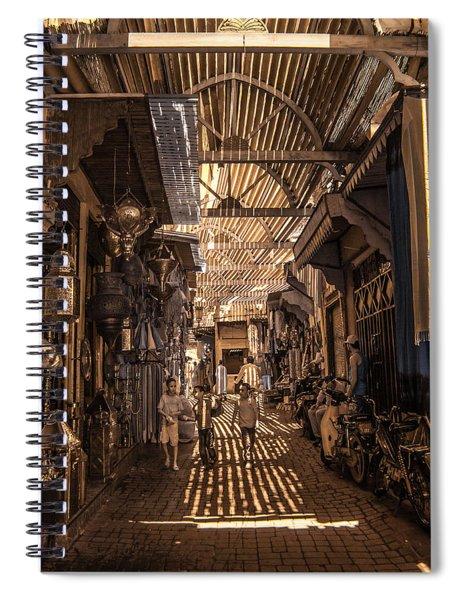 Marrakech Souk With Children Spiral Notebook
