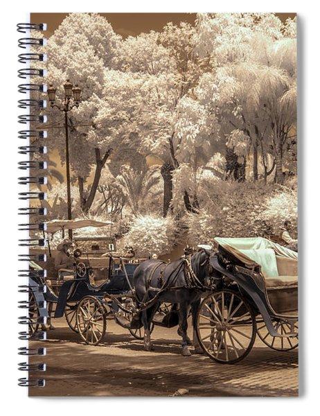 Marrakech Street Life - Horses Spiral Notebook