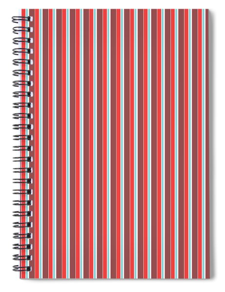 Marsala Stripe 2 Spiral Notebook