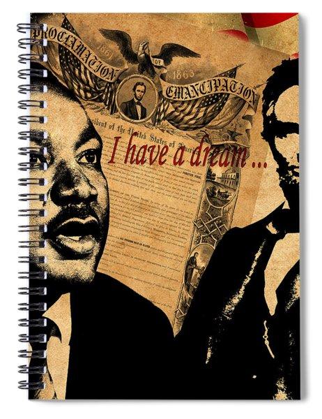 Martin Luther King Jr 2 Spiral Notebook