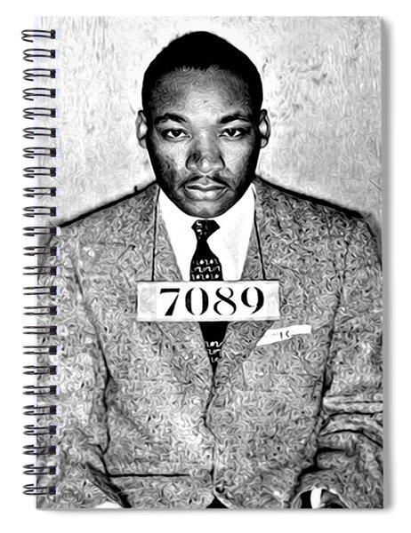 Martin Luther King Mugshot Spiral Notebook