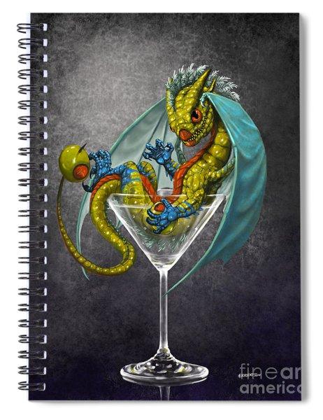Martini Dragon Spiral Notebook