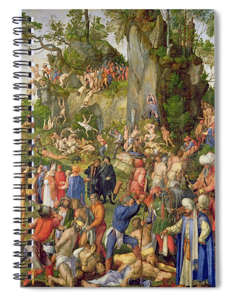 Martyrdom Of The Ten Thousand, 1508 Spiral Notebook