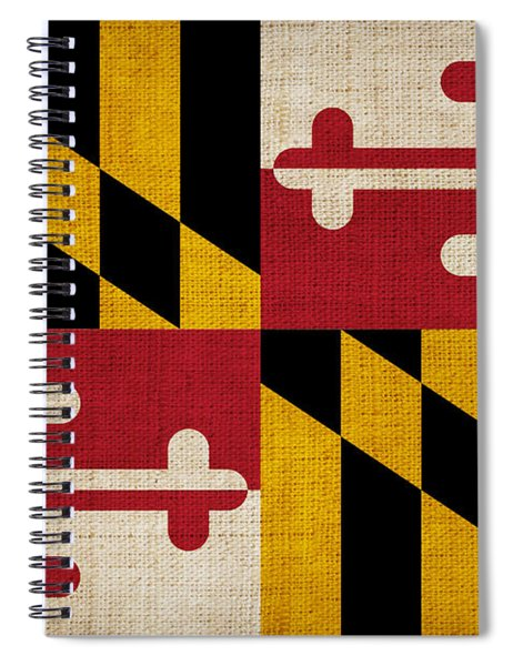 Maryland State Flag Spiral Notebook by Pixel Chimp