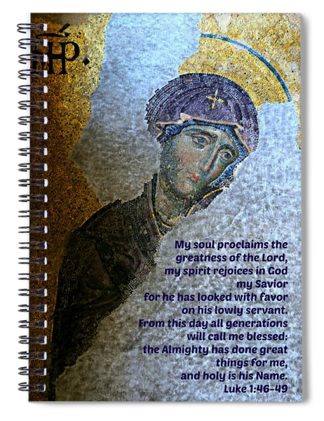 Mary's Magnificat Spiral Notebook