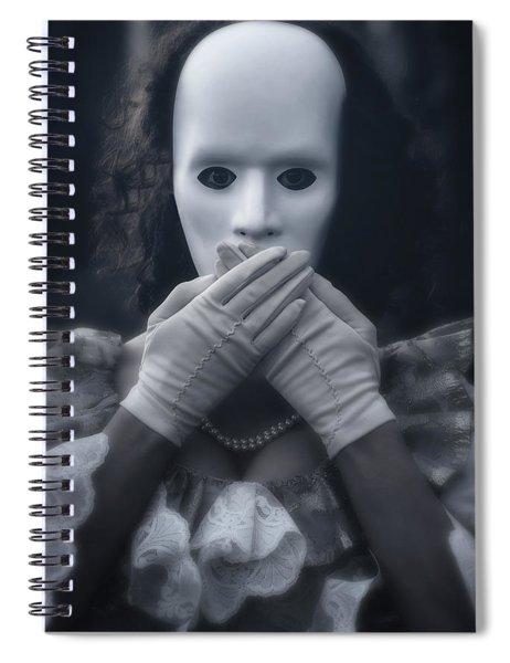 Masked Woman Spiral Notebook