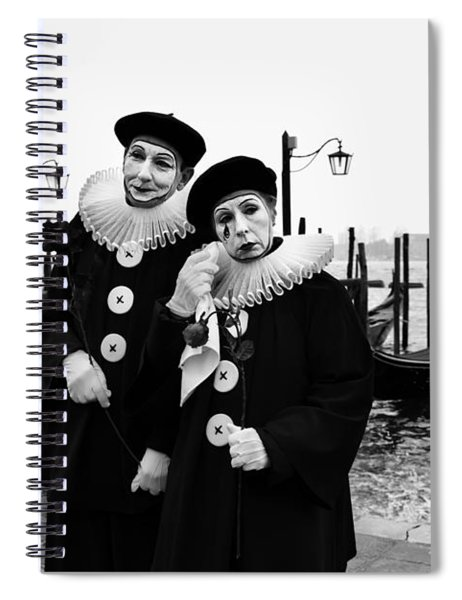 Masks In Venice Spiral Notebook