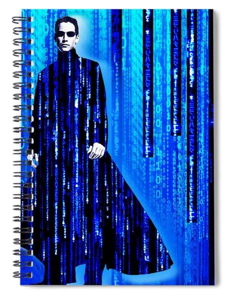 Matrix Neo Keanu Reeves 2 Spiral Notebook