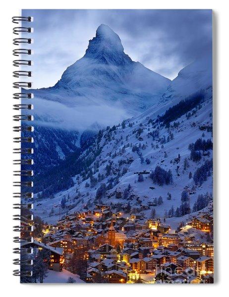 Spiral Notebook featuring the photograph Matterhorn At Twilight by Brian Jannsen