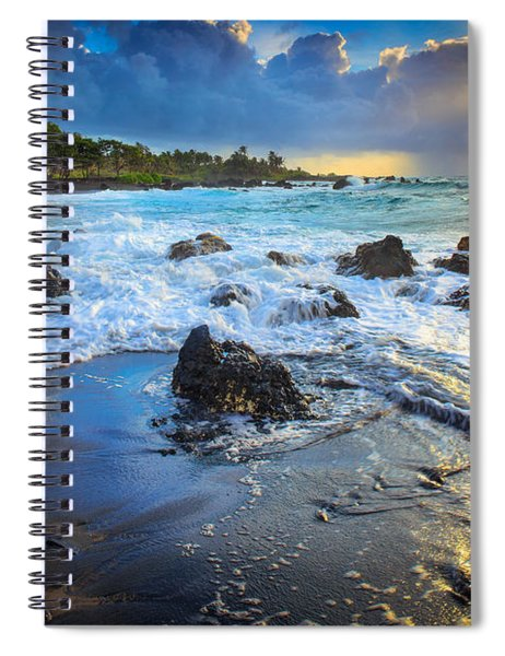 Spiral Notebook featuring the photograph Maui Dawn by Inge Johnsson