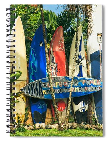 Maui Surfboard Fence - Peahi Hawaii Spiral Notebook