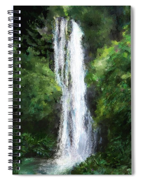 Maui Waterfall Spiral Notebook