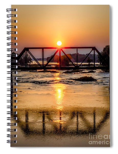 Maumee River At Grand Rapids Ohio Spiral Notebook