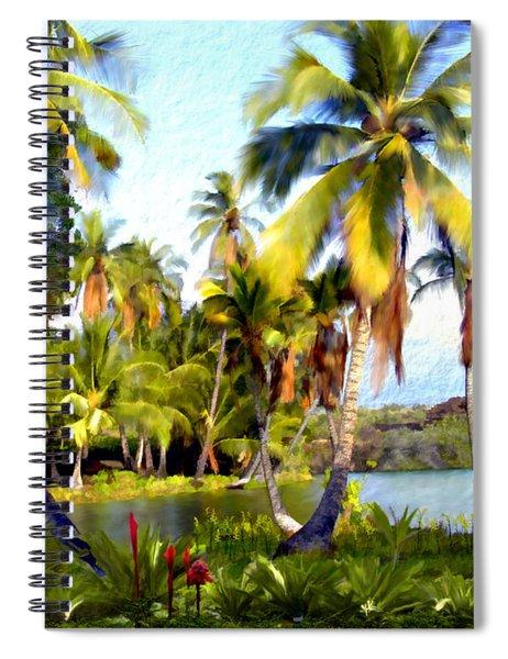 Mauna Lani Fish Ponds Spiral Notebook