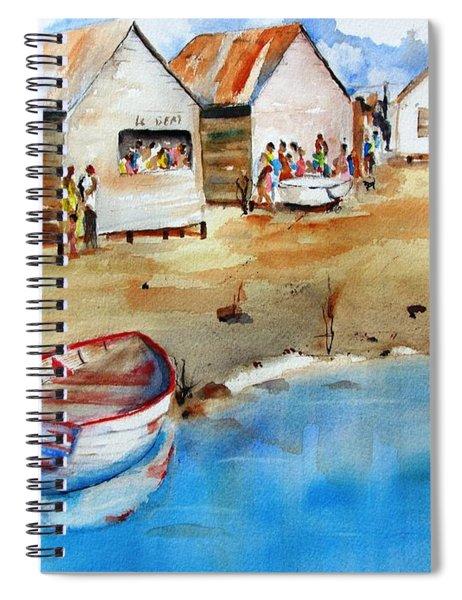 Mauricio's Village - Beach Huts Spiral Notebook
