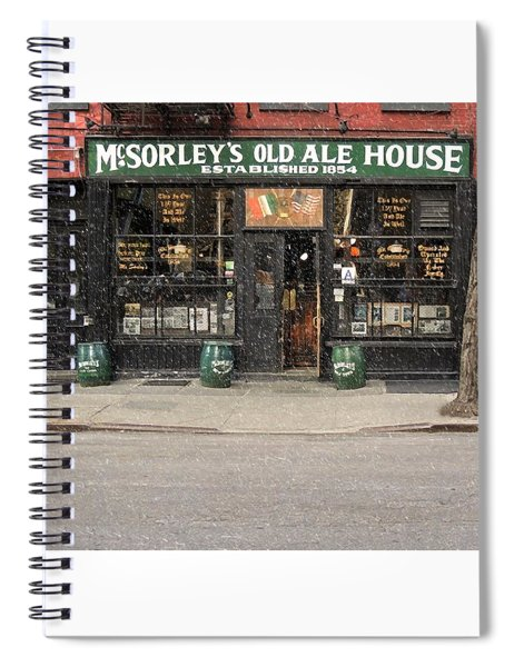 Mcsorley's Old Ale House During A Snow Storm Spiral Notebook