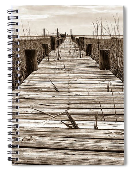 Mcteer Dock - Sepia Spiral Notebook