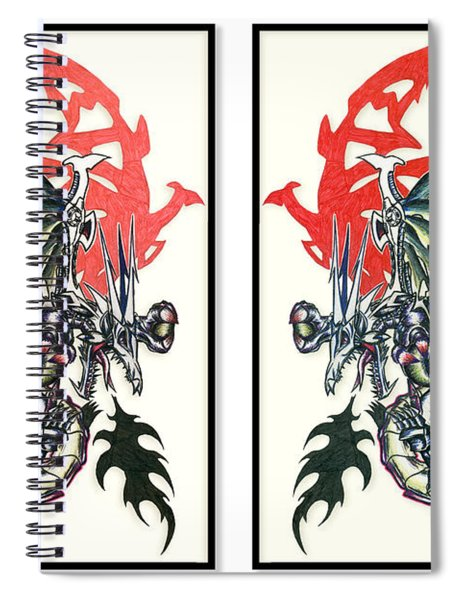 Mech Dragons Collide Spiral Notebook