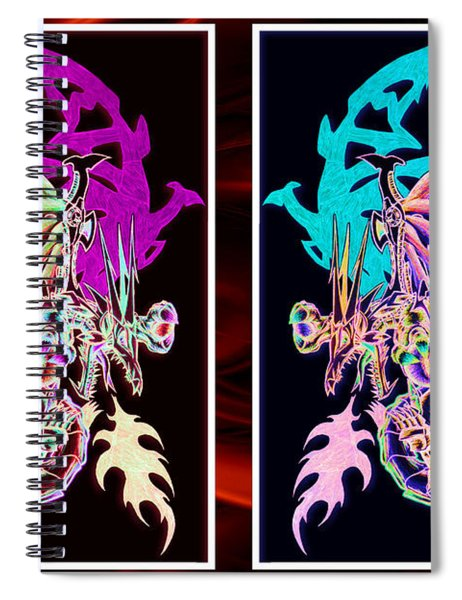 Mech Dragons Pastel Spiral Notebook