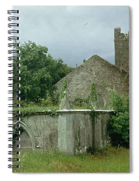 Medieval Church And Churchyard Spiral Notebook
