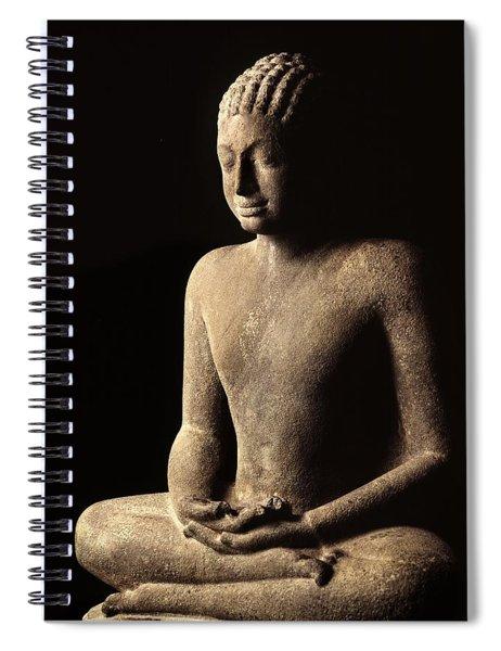 Meditating Buddha, Davaravati Period Spiral Notebook