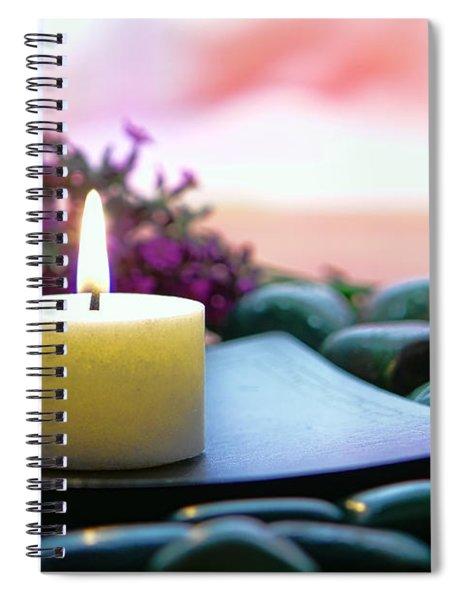 Meditation Candle Spiral Notebook