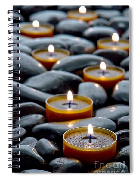 Meditation Candles Spiral Notebook