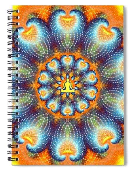 Spiral Notebook featuring the digital art Meditation Galaxy 9 by Derek Gedney