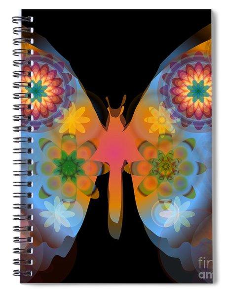 Meditative Butterfly Spiral Notebook