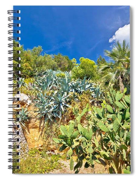 Mediterranean Plants Green Landscape View Spiral Notebook