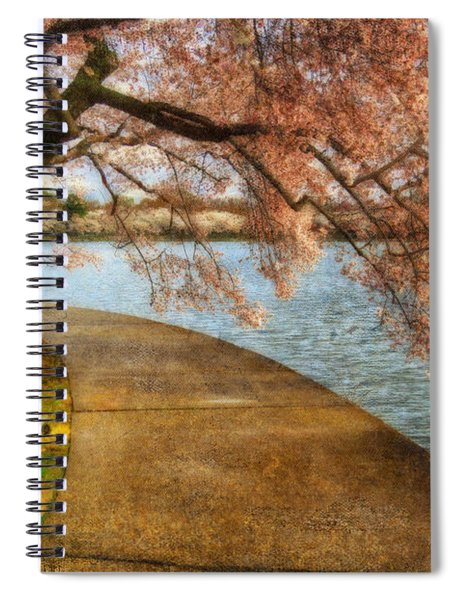 Meet Me At Our Bench Spiral Notebook