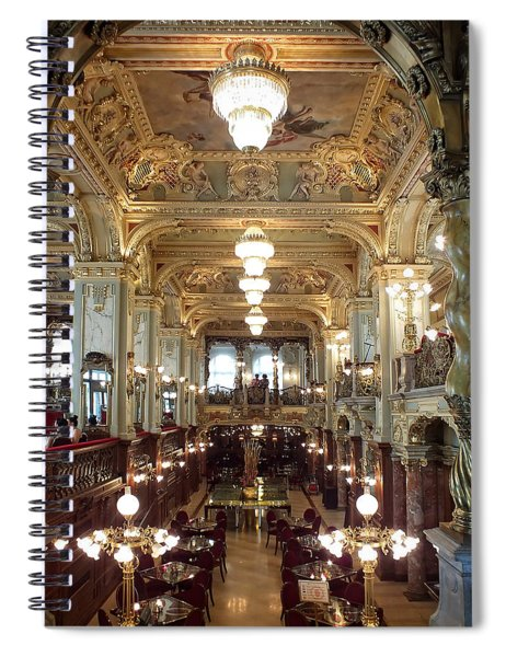 Meet Me For Coffee - New York Cafe - Budapest Spiral Notebook