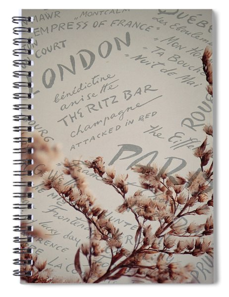 Meet Me In Paris Spiral Notebook