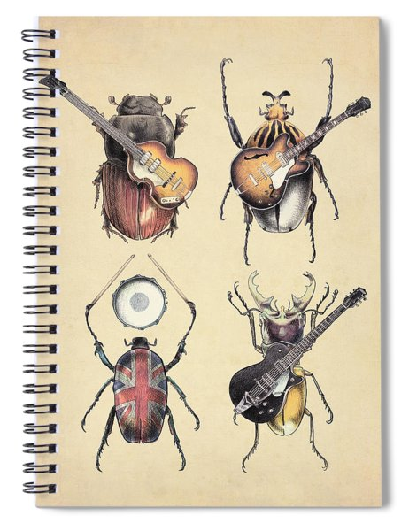 Meet The Beetles Spiral Notebook