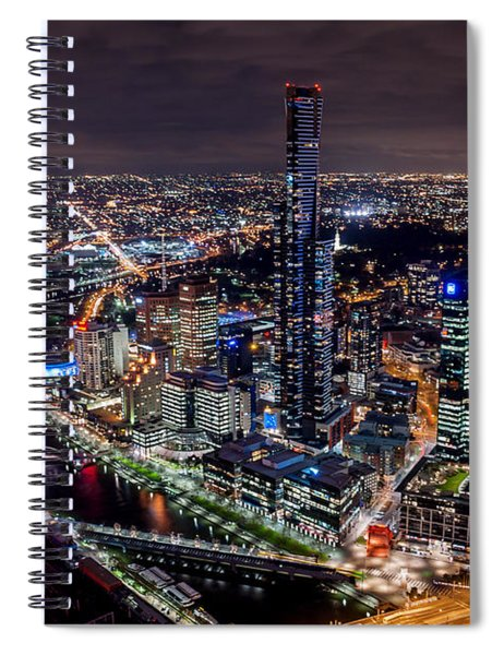 Melbourne At Night IIi Spiral Notebook