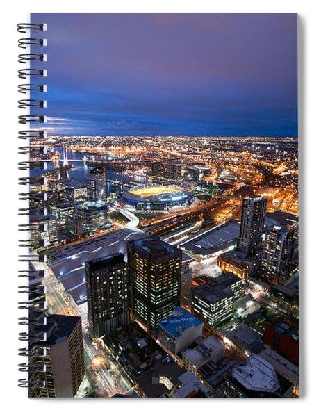Melbourne At Night Spiral Notebook