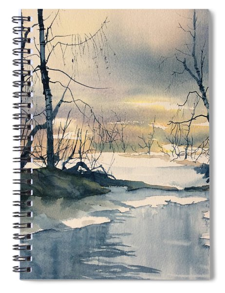 Melt Water On Skipwith Common Spiral Notebook