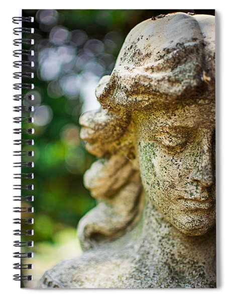 Memphis Elmwood Cemetery - Girl With Cross Close-up Spiral Notebook