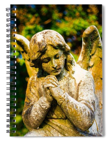 Memphis Elmwood Cemetery - Praying Angel Spiral Notebook