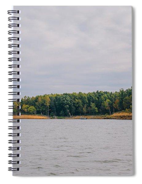 Men Fishing On Barren River Lake Spiral Notebook