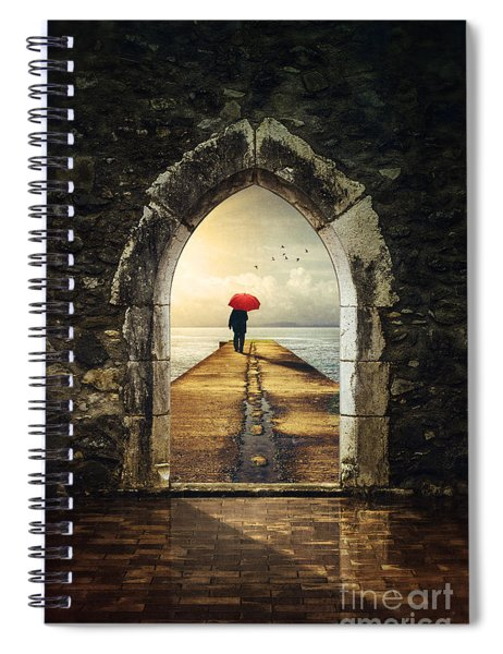 Men In Pier Spiral Notebook