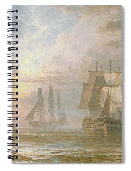 Men Of War At Anchor Spiral Notebook