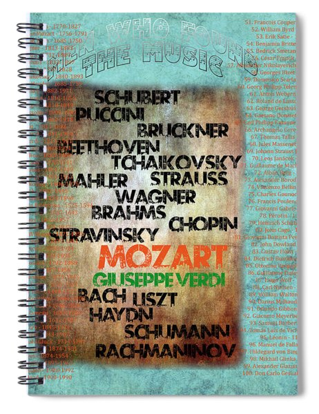 Men Who Found The Music Spiral Notebook