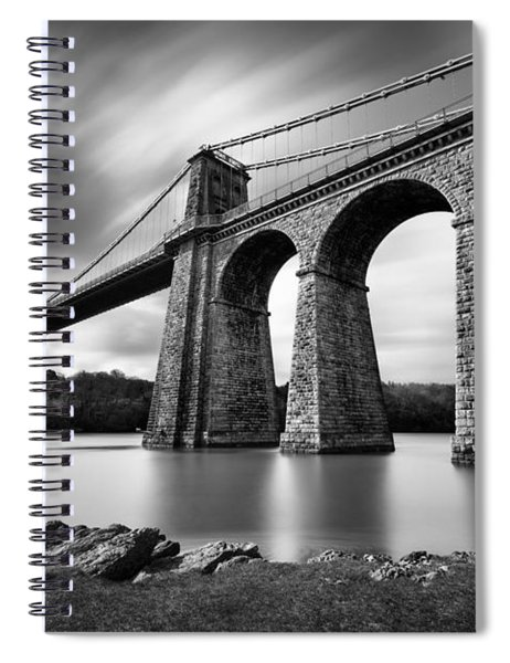 Menai Suspension Bridge Spiral Notebook