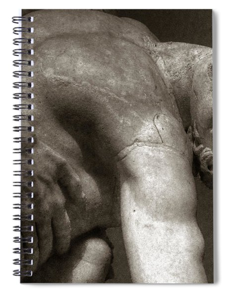 Menelaus Supporting The Body Of Patroclus Spiral Notebook