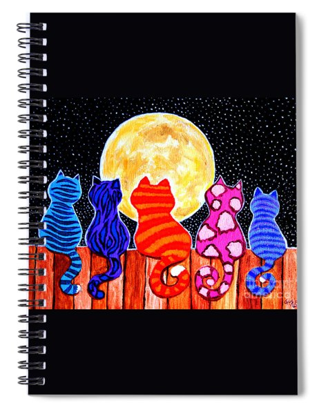 Meowing At Midnight Spiral Notebook