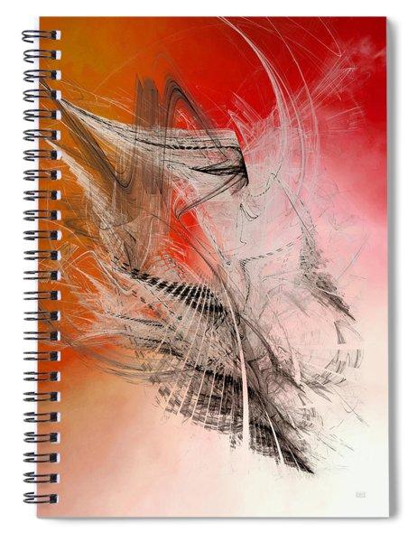 Mercury In Aries - Cardinal Fire Spiral Notebook by Menega Sabidussi