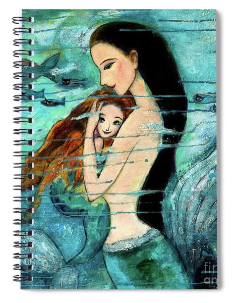 Mermaid Mother And Child Spiral Notebook